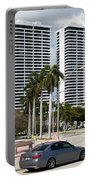 Trump Plaza In Downtown West Palm Beach Skyline Portable Battery Charger