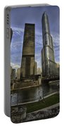 Trump Tower And River Front Portable Battery Charger