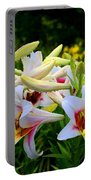 Trumpet Lilies Portable Battery Charger