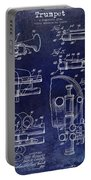 Trumpet Patent Drawing Blue Portable Battery Charger