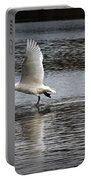 Trumpeter Swan Walking On Water Portable Battery Charger