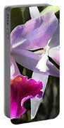 Trumpeting Purple Cattleya Orchids Portable Battery Charger
