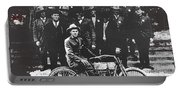 Tucson Police Department  On Steps Of City Hall With 1st Police Motorcycle C. 1917 Tucson Arizona Portable Battery Charger