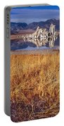 Tufa And Frozen Grass-h Portable Battery Charger