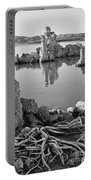 Tufa In Black And White Portable Battery Charger