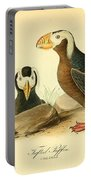 Tufted Puffins Portable Battery Charger by Philip Ralley