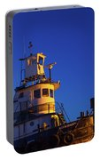 Tug Boat At Dawn, Cape Ann, Gloucester Portable Battery Charger