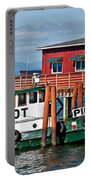 Tug Boat Pilot Docked On Waterfront Art Prints Portable Battery Charger