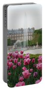 Tuileries Garden In Bloom Portable Battery Charger by Jennifer Ancker