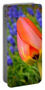 Tulip And Muscari  Portable Battery Charger