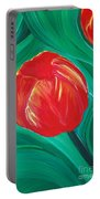 Tulip Diva By Jrr Portable Battery Charger by First Star Art