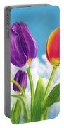 Tulip Garden Portable Battery Charger