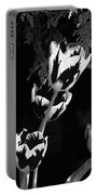 Tulip Group In Black And White Portable Battery Charger