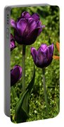 Tulip Time Purple And Orange Portable Battery Charger