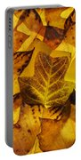Tulip Tree Leaves In Autumn Portable Battery Charger