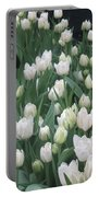 Tulip White Show Flower Butterfly Garden Portable Battery Charger