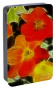 Tulips-6681-fractal Portable Battery Charger