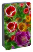 Tulips-6944-fractal Portable Battery Charger