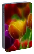 Tulips-7060-fractal Portable Battery Charger