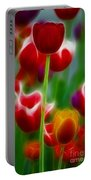 Tulips-7069-fractal Portable Battery Charger
