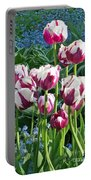 Tulips Among The Forget Me Nots Portable Battery Charger