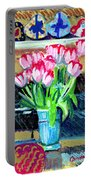Tulips And Valentines Portable Battery Charger