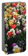 Tulips - Field With Love 57 Portable Battery Charger