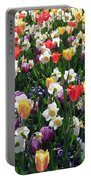 Tulips - Field With Love 58 Portable Battery Charger
