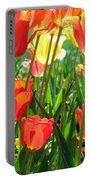 Tulips - Field With Love 69 Portable Battery Charger
