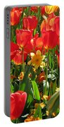 Tulips - Field With Love 71 Portable Battery Charger