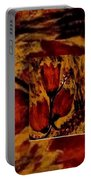 Tulips In Acryl Collage Portable Battery Charger