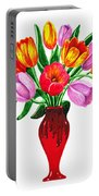Tulips In The Vase Portable Battery Charger