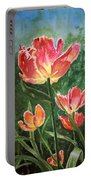 Tulips On Fire Portable Battery Charger
