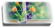 Tulips On The Window Portable Battery Charger