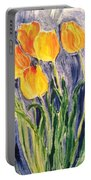 Tulips Portable Battery Charger by Sherry Harradence