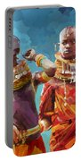Young Turkana Girls Portable Battery Charger