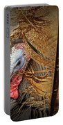 Turkey And Feathers Portable Battery Charger
