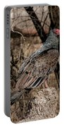 Turkey Vulture Portrait Portable Battery Charger