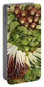 Turnip And Chard Concerto Portable Battery Charger by Jen Norton
