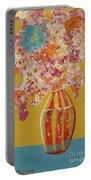 Turquoise Flower Portable Battery Charger