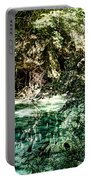Turquoise Forest Pond On A Summer Day No1 Portable Battery Charger