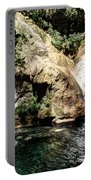 Turquoise Forest Pond On A Summer Day No2 Portable Battery Charger
