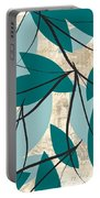 Turquoise Leaves Portable Battery Charger