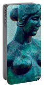 Turquoise Maiden - Digital Art Portable Battery Charger