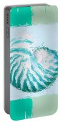 Turquoise Seashells Xii Portable Battery Charger by Lourry Legarde