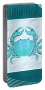 Turquoise Seashells Xix Portable Battery Charger