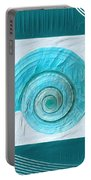 Turquoise Seashells Xvii Portable Battery Charger