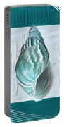 Turquoise Seashells Xx Portable Battery Charger by Lourry Legarde