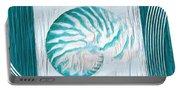 Turquoise Seashells Xxi Portable Battery Charger