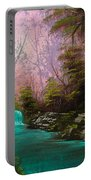 Turquoise Waterfall Portable Battery Charger by C Steele
